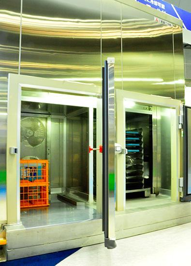 差圧式凍結・冷却設備 庫内画像
