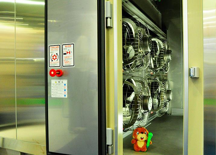 差圧式凍結・冷却設備 内部画像